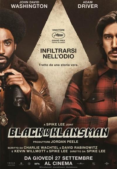 Cinema Politeama - locandina BlacKkKlansman